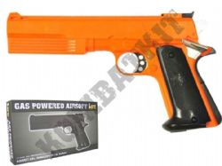 HG125 Gas Powered Airsoft BB Gun Black and Orange